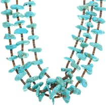 Vintage 1970s Santo Domingo Turquoise Necklace 41341