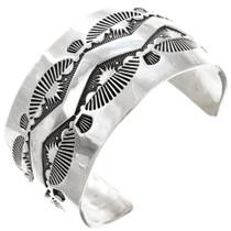 Solid Sterling Silver Navajo Cuff Bracelet 40814