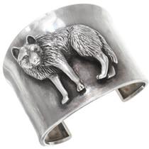 Vintage Sterling Silver Wolf Bracelet 40902