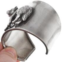 Detailed Wolf Design All Sterling Silver Bracelet 40902