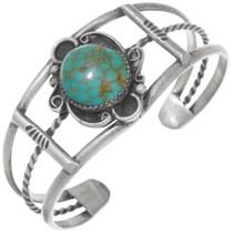 Vintage Green Turquoise Cuff Bracelet 40899