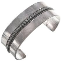 Vintage Sterling Silver Navajo Cuff Bracelet 40809