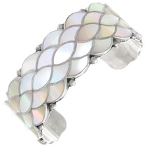 Vintage Zuni Mother of Pearl Inlay Bracelet 41400