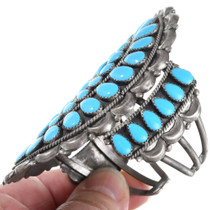 Old Pawn Navajo Sterling Silver Turquoise Bracelet 41401