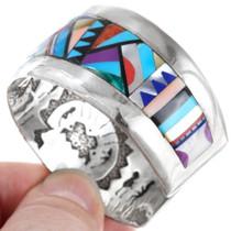 Colorful Multistone Navajo Geometric Pattern Turquoise Bracelet 41406