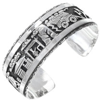 Sterling Silver Navajo Storyteller Bracelet 41407