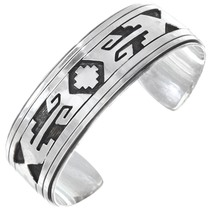 Native American Sterling Silver Cuff Bracelet 41408