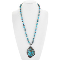 Old Pawn Navajo Turquoise Nugget Pendant Necklace
