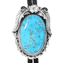 Large Native American Turquoise Bolo Tie 41411