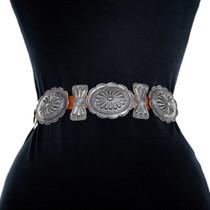 Vintage 1950s Navajo Silver Concho Belt 41416