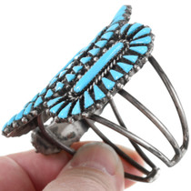 Sterling Silver Navajo Turquoise Cuff Bracelet 41417