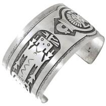 Navajo Sterling Silver Kachina Bracelet 41418