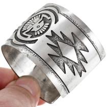 Navajo Rug Pattern Yei bi Chei Sterling Silver Bracelet 41418