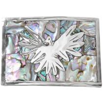 Vintage Silver Abalone Phoenix Belt Buckle 41421