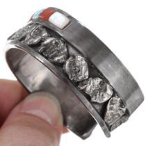 Vintage Native American Gemstone Inlay Zuni Bracelet 41423