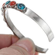 Navajo Coral Turquoise Bracelet 41424