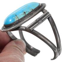 Sterling Silver Large Ithaca Peak Turquoise Bracelet 41427
