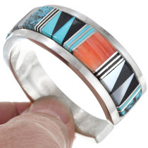 Native American Spiny Oyster Shell Navajo Cuff Bracelet 41428
