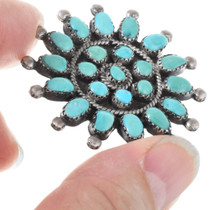 Sterling Silver Native American Turquoise Brooch 41435