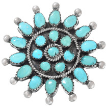 Old Pawn Turquoise Lapel Pin Brooch 41435