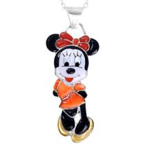 Zuni Inlay Minnie Mouse Pendant 41437