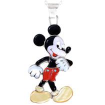 Inlaid Zuni Mickey Mouse Pendant 41436