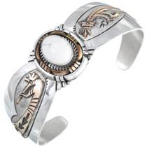 Sterling Silver Gold Howlite Kokopelli Bracelet 41438