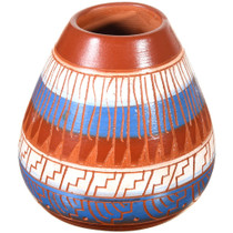 Small Navajo Pottery Etched Olla 37322