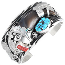 Sleeping Beauty Turquoise Genuine Bear Claw Bracelet 41440