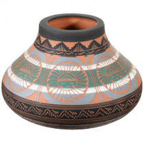 Etched Sunface Design Navajo Pottery 37323