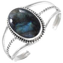 Vintage Navajo Abalone Shell Sterling Silver Cuff Bracelet 41441