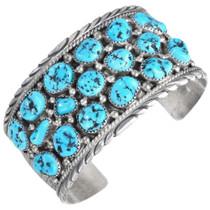 Vintage Navajo Turquoise Cluster Bracelet 41443