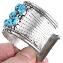 Sterling Silver Sleeping Beauty Turquoise Cuff Bracelet 41443
