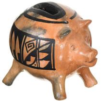 Vintage Navajo Piggy Bank Pottery 37327