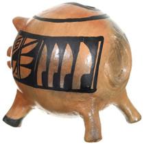 Native American Piggy Bank Redware Pottery 37327