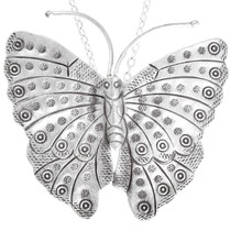 Large Sterling Silver Butterfly Pendant 41448
