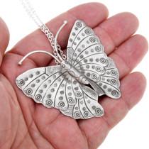 Sterling Silver Butterfly Pendant 41448