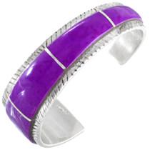Vintage Navajo Inlaid Purple Sugilite Sterling Silver Bracelet 41450