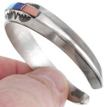 Navajo Multistone Inlay Turquoise Cuff Bracelet 41454