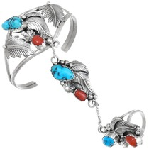 Vintage Sleeping Beauty Turquoise Native American Princess Bracelet 41456