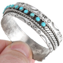Turquoise Sterling Silver Ladies Jewelry Set 41457