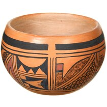 Hand Painted Hopi Tribe Native American Pottery 37332