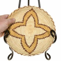 Authentic Papago Tribe Tray Basket 41494