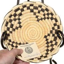 Authentic Papago Basket Tray Artist Elizabeth Lopez 41499