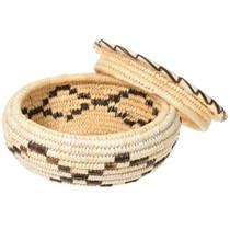 Vintage Tohono O'odham Lidded Basket 41500