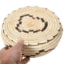 Hand Woven Papago Tribe Yucca Storage Basket with Lid 41500