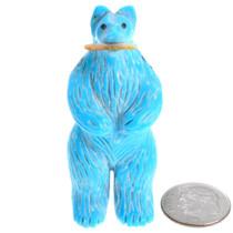 Native American Turquoise Bear Fetish 37339