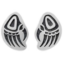 Sterling Silver Native American Bear Paw Earrings 41511