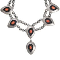 Vintage Native American Coral Necklace 41514