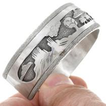 Monument Valley Navajo Reservation Scene Silver Bracelet 41525